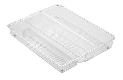 InterDesign 63430EU Linus Tiroir Organiseur Extensible Plastique Transparent 38,25 x 20,5 x 6,5 cm