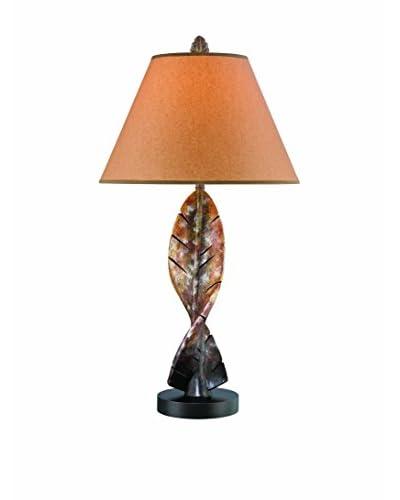 Lite Source Bahama Table Lamp, Mottled Russet/Dark Brown
