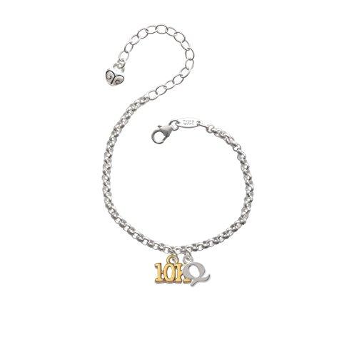 Gold Tone 10K Initial - Q - Charm Bracelet