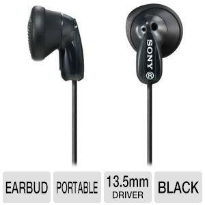 Sony In Ear Ultra Lightweight Stereo Bass Earbud Headphones (Black)