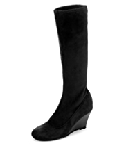 Panelled Wedge Boots