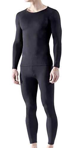 BU-MHS100-BLK_X-Large Tesla Blank Men's Thermal Microfiber Fleece Lined Top & Bottom Underwear Set MHS100 (Insulation Underwear compare prices)