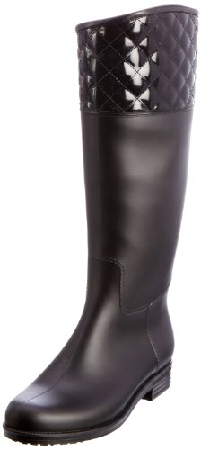 dav Women's Quilted English Knee-High Boot