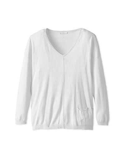 Kier & J Women's V-Neckline Sweater with Pocket