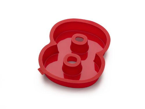 Lekue Number 8 Cake Mold, Red (Number 8 Cake Pan compare prices)