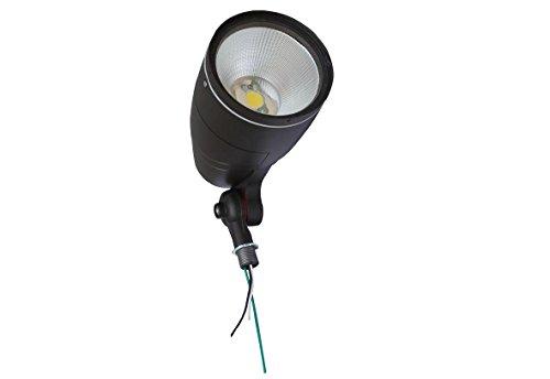 Ul listed dlc 12w led bullet flood light 5000k cool for Bullet landscape lights