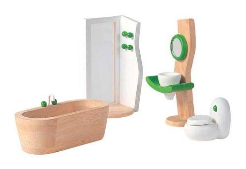 Plan Wooden Bathroom Doll House Set