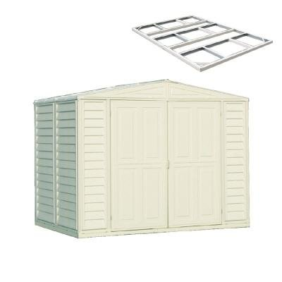 DuraMax Model 00114 8×6 DuraMate Vinyl Storage Shed with foundation