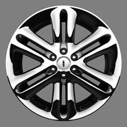 22″X 9.5″ Chrome 6-Spoke Cast Aluminum Wheel