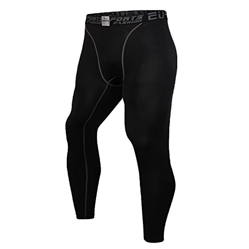 Palazze Compression Pants - Men's Tights Running Leggings Workout Base Layer - Black - XL size - Asian Size - Choose 1 Size Up