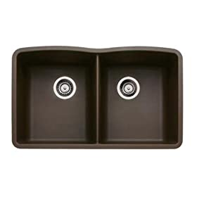 Blanco BL440182 BlancoDiamond Equal Double Bowl, Cafe Brown