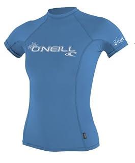 O'Neill Wetsuits Women's Basic Skins Short Sleeve Crew, Riviera, X-Small