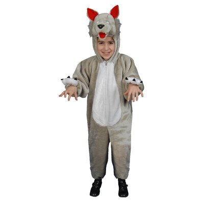 Kids Plush Wolf Costume Set