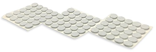 Shepherd Hardware 9957 3/8-Inch Self-Adhesive Felt Furniture Pads, 75-Pack, White (Countertop White End Cap compare prices)