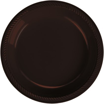 Coffee Plastic Dessert Plate 20 Count - 1