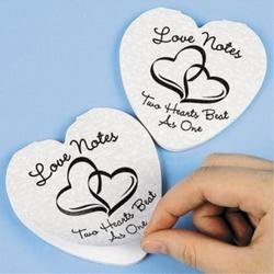 two hearts notepads wedding party favors