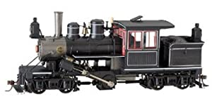 Bachmann Spectrum On30 Scale DCC Sound On Board 28 Ton Two-Truck Climax Single Panel Wood Cab Steam Locomotive (Painted Unlettered Black with Red & White Trim)