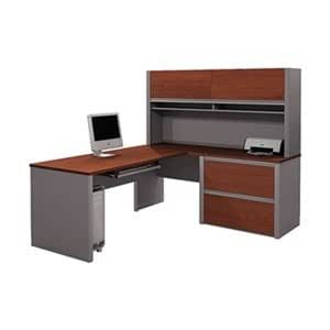 Bestar Office Furniture Desk With Hutch And Return 93867 Home Kitchen