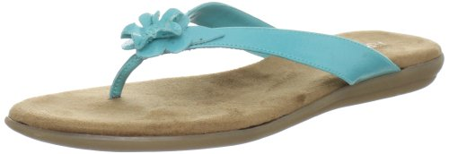 Aerosoles Women's Branchlet Thong Sandal,Blue/Green Patent,8 M US