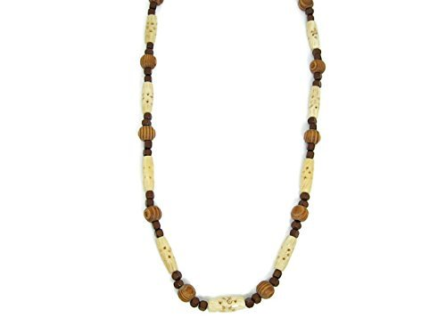 cream-bone-ivory-and-brown-necklace-with-african-components