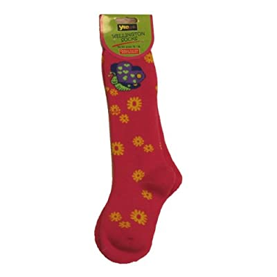 Yeominis Butterfly Wellington Socks Size 5-8
