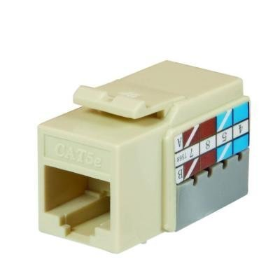 Ce Tech 5015-la Light Almond Cat5e Keystone Jack, Cat 5e Keystone Jack, Cat 5 E Keystone Jack Keystone Jacks Snap Into Any Housing or Wall Plate, High Performance Data Transmission up to 100mhz, Includes Plastic 110 Punch Down Tool