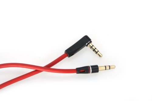 Hausbell ® Audio Cable W/ Control Talk Mic For Beats (Connect Iphone 5/4Gs And Beats) By Dr Dre Solo Studio Solohd - Red