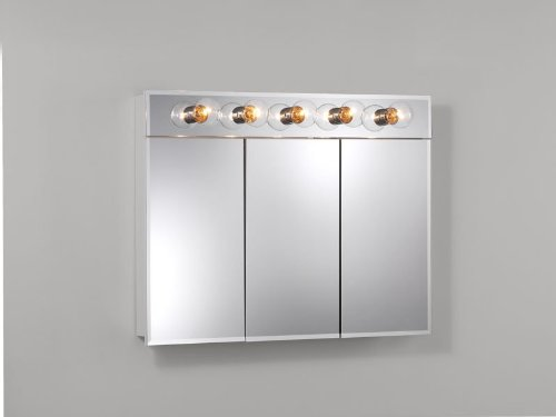 Broan Nutone Ashland Tri View 5 Light 36W X 28H In Surface