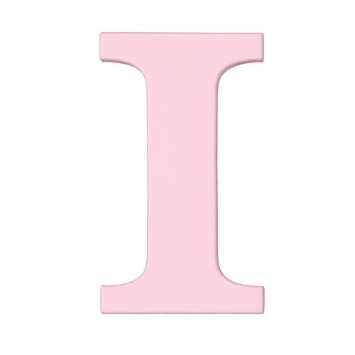 8-Inch Wall Hanging Wood Letter I Pink - 1