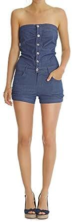 n.n. jean femme, combinaison de jean, jean femme j43p 40/L bleu foncé