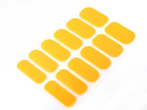 簡単セルフネイルTOPコート不要ネイルシール ネイルパッチ ネイルステッカー ネイルフィルム ネイルラップ ラメ人気ワンカラー ネオンオレンジ12枚