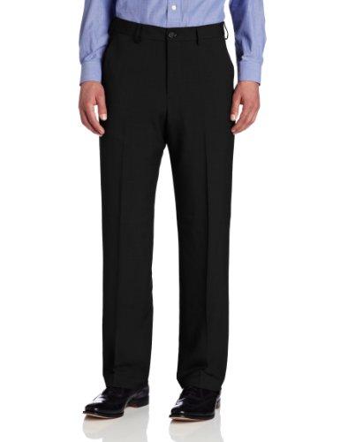 Van Heusen Men's Big & Tall Flat-Front Crosshatch Pant, Black, 44W x 32L (Van Heusen Dress Pants compare prices)