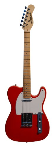 39 Inch Candy Apple Red Electric Guitar [Telecaster® Style] And Amp Pack With Free Carrying Bag And Strap, (Guitar, 10 Watt Amplifier, Strap, & Directlycheap(Tm) Translucent Blue Medium Guitar Pick)