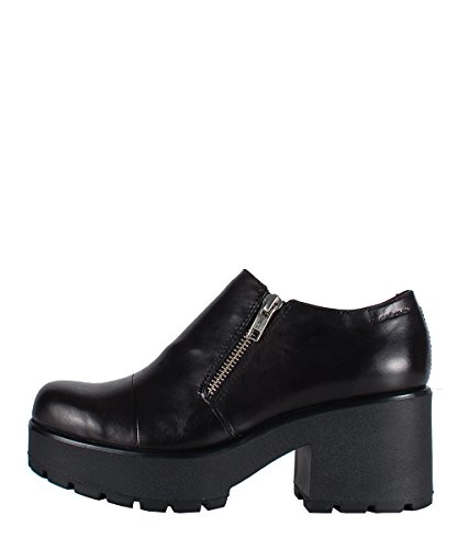 Vagabond Dioon Zip Shoes Black - Scarpe In Pelle Nere Con Cerniera