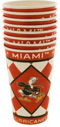 Miami Hurricanes Paper Cups Set (Sold by 1 pack of 24 items) PROD-ID : 1891560