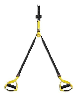 body coach Power Sling Total Suspension Trainer Nylon Mit Dvd, gelb/schwarz, 16250