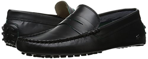 Lacoste Men's Concours 10 LCR Srm Slip-On Loafer, Black, 11 M US