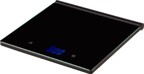 Salter Ultra Thin Glass Kitchen Scale, Weighs to 11-Pound