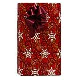 Elegant SNOWFLAKE SWIRLS Christmas Holiday Gift Wrap Paper - 16 Foot Roll