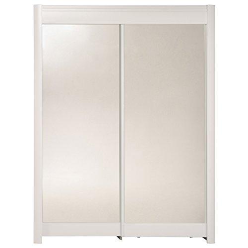 Armoire 2 portes - Blanc - Phénix - l 160 x P 60 x H 210 cm