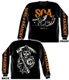 Sons Of Anarchy Charging Reaper Long Sleeve T-shirt (Extra Large, Black)
