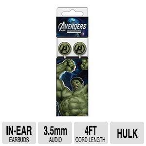 Marvel Stereo Earbuds - Hulk