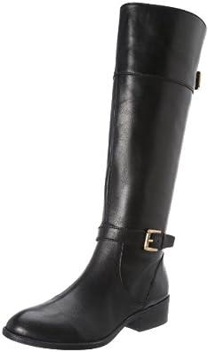 Lauren Ralph Lauren Women's Melora Riding Boot,Black/Black,5 B US