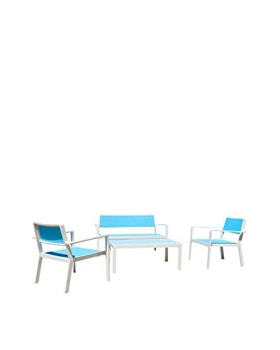 RST Brands Sol 4-Piece Sling Seating Set, Blue