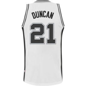 Tim Duncan White Adidas NBA Revolution 30 Replica San Antonio Spurs Youth Jersey