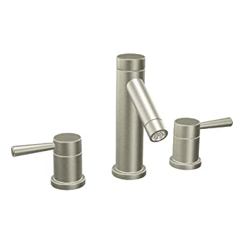Moen T6110BN Level Two-Handle High Arc Bathroom Faucet without Valve, Brushed Nickel by Moen