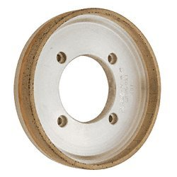 "Somaca/CRL 6"" Position # 1 Metal Bond Diamond Bevel Grinding Wheel 80-100 Grit by CR Laurence"