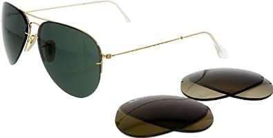 Amazon.com: Ray-Ban RB3460 Aviator Flip Out Sunglasses 59