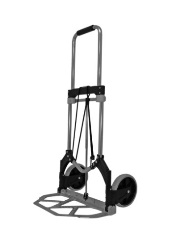 RWM Casters FW-90 Aluminum Folding Hand Truck with Loop Handle, 200 lbs Load Capacity, 38