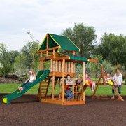 Pathfinder Ii Cedar Swing Set front-276028